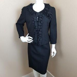 Ann Taylor Black Skirt Suit 12/14